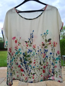 Newlook 6217 - made in a panel of silk I think!! That's what I thought when I did the burn test!