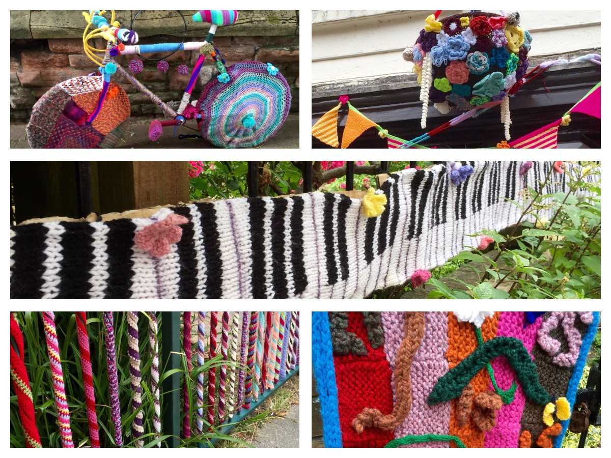 Yarn Bombing in Taunton