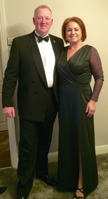 Posh frock from a posh event! The Colette Wren hacked to a maxi length with a thigh high split.